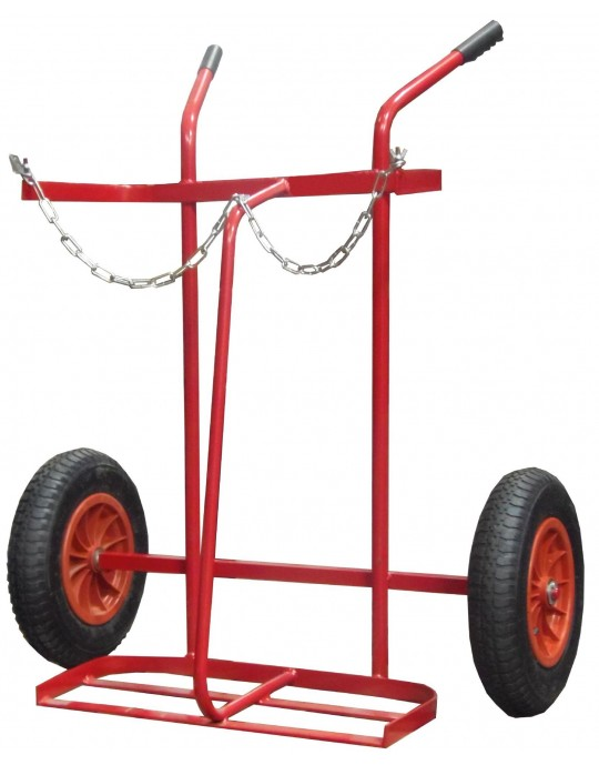 1273 Oxygen Acetylene Trolley with Pneumatic Wheels