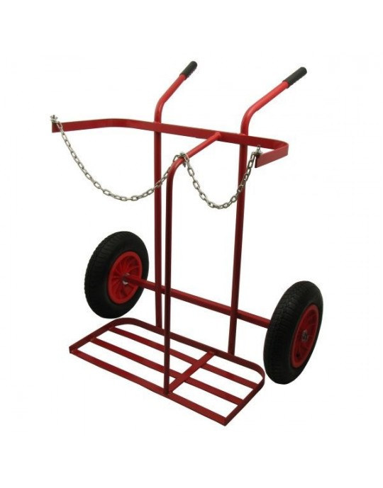 1275 Oxygen Propane Cylinder Trolley with Pneumatic Wheels
