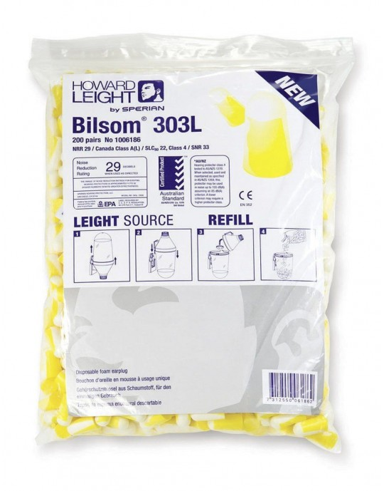 Bilsom Pack of 200 Disposable Ear Plugs