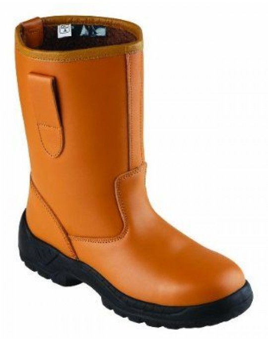 Blackrock SF01 Tan Fur Lined Leather Rigger Boots