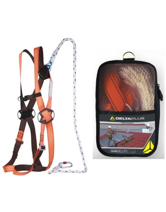 Delta Plus Fall Arrest Restraint Harness Kit With Bag / Karabiners / Lanyard