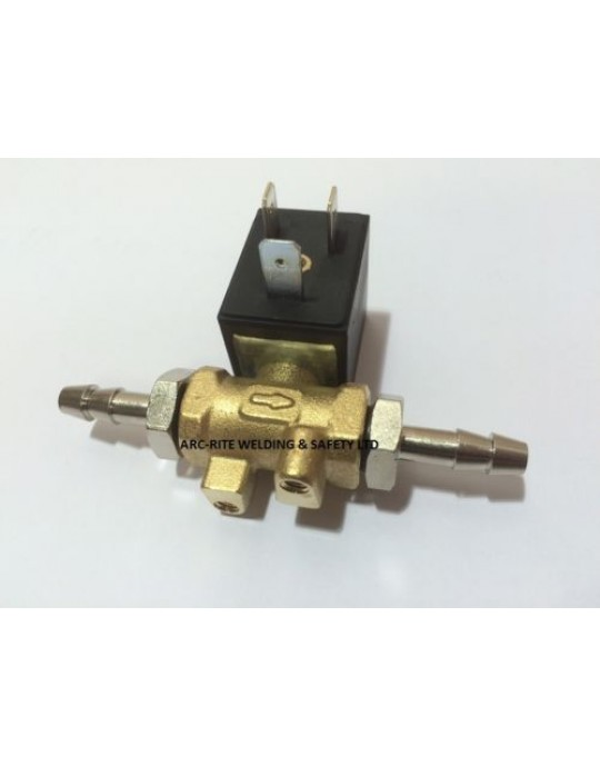 Mig Welder Gas Solenoid with Tails - CHOOSE VOLTAGE