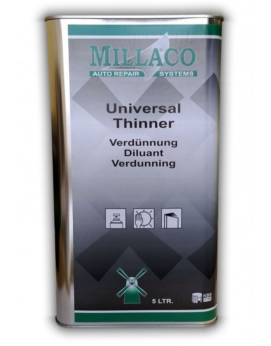 Millaco Universal Automotive 2k and Basecoat Thinner - CHOOSE SIZE