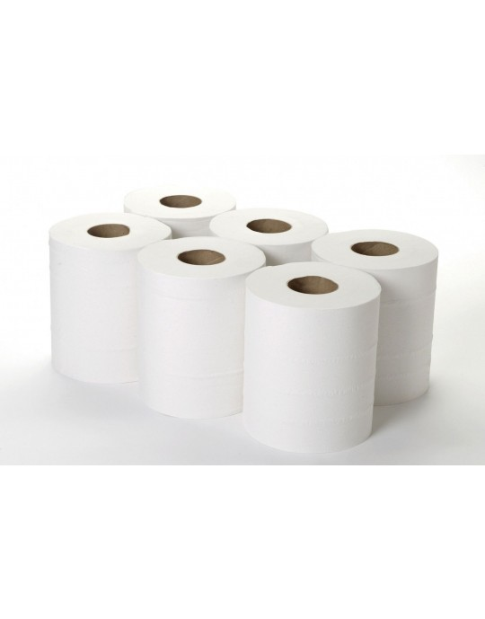 Pack of 6 White Centrefeed Rolls