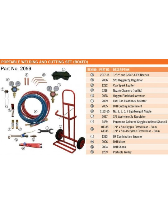 Portable Cutting & Welding Set (Boxed)