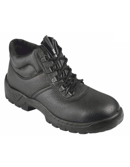 SBU02 Black Leather Chukka Safety Boot