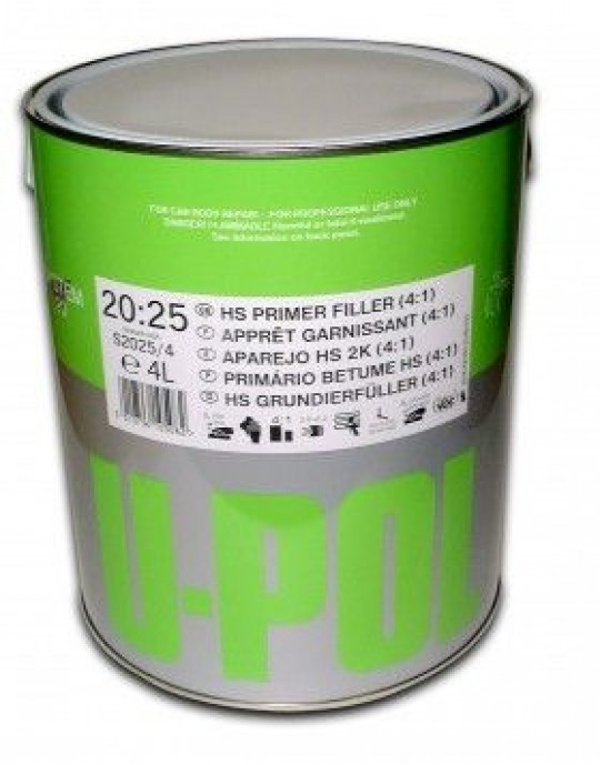 U-POL 2025 High Build Primer GREY 4:1  4 Litre