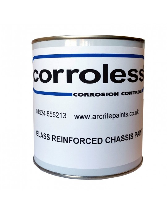 Corroless Glass Reinforced Black Rust Killer Chassis Paint In One