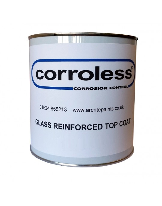 Corroless RF16 Glass Leaf Impregnated Gloss Top Coat - ANY COLOUR