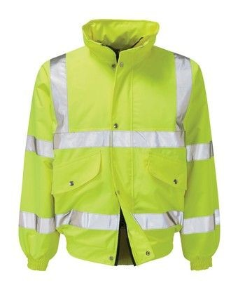 Class 3 Hi Vis Contractor Bomber Jacket - CHOOSE SIZE AND COLOUR