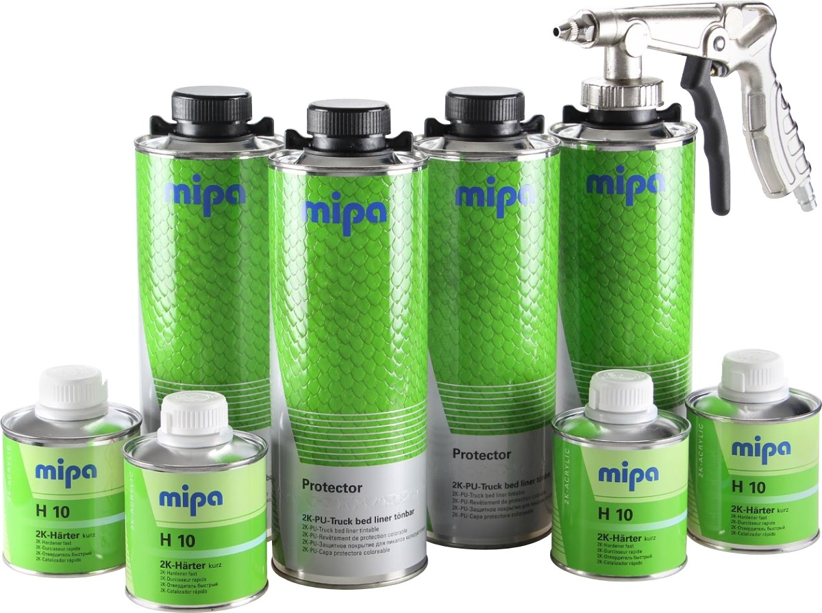 MIPA PROTECTOR BLACK/CLEAR/TINTABLE BED LINER KIT