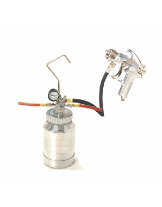 2 Litre Pressure Pot with Spray Gun, Lines and Regulator