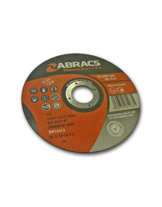 "ABRACS Phoenix Cutting Discs 125mm (5"")"