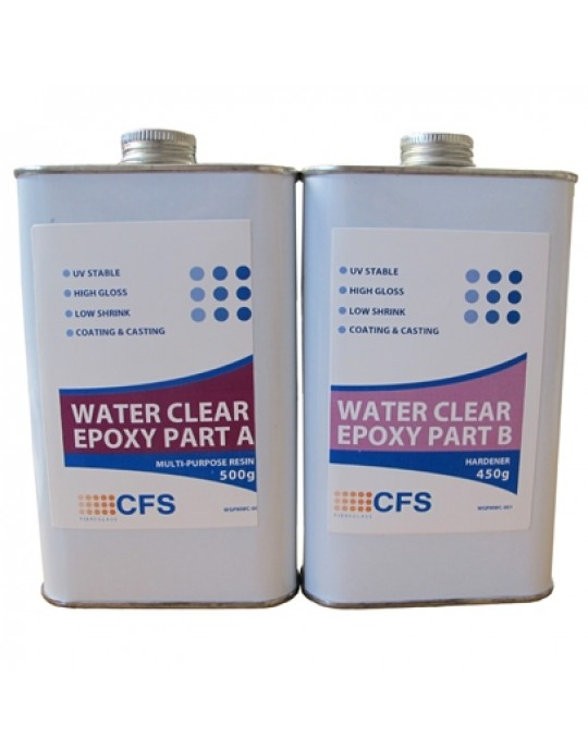 CFS Clear EPOXY Resin 1.9kg kit - Ideal for woodwork, furniture, turning etc