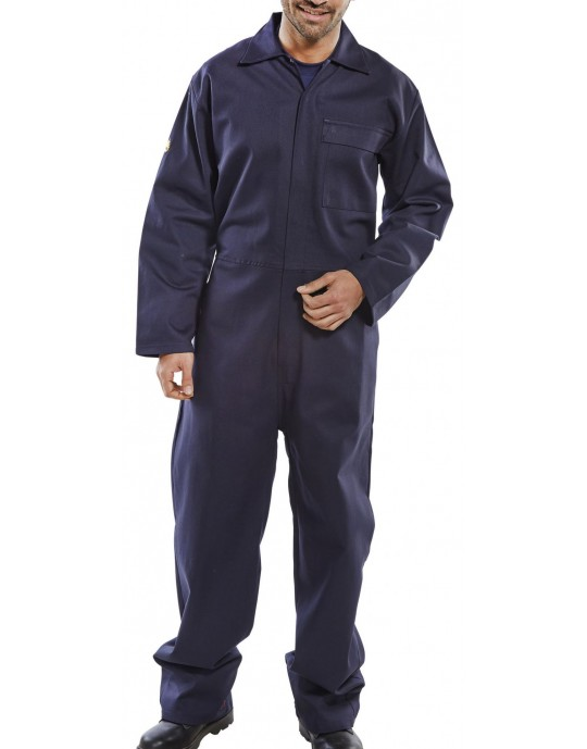 CLICK 100% Cotton Flame Retardant Navy Overall - CHOOSE SIZE