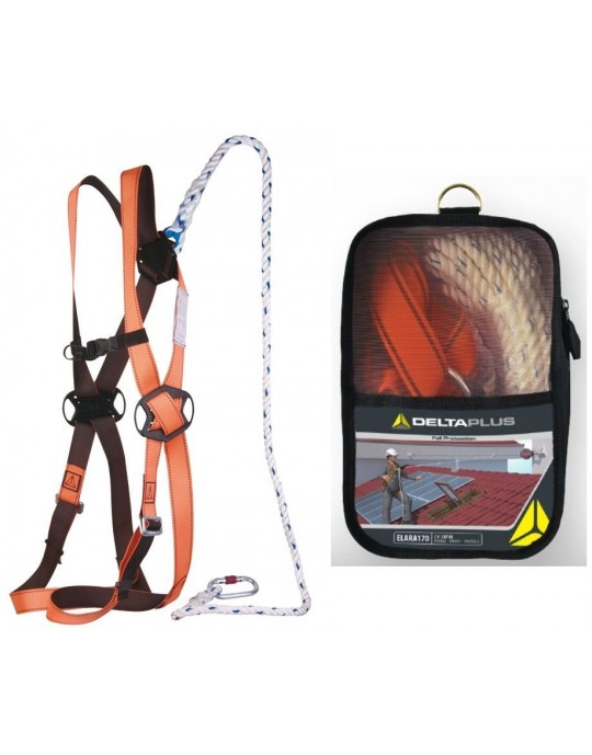 Delta Plus Fall Arrest Restraint Harness Kit With Bag / Karabiners / Lanyard