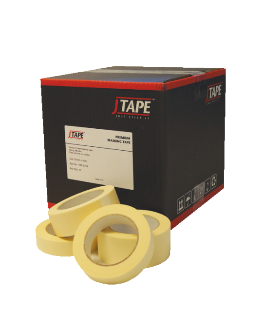 "JTAPE 1180.3850 38mm (1.5"") Masking Tape Box/20"