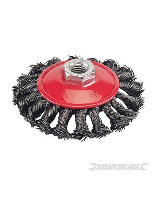 Twist Knot Heavy Duty Wire Brush 115mm