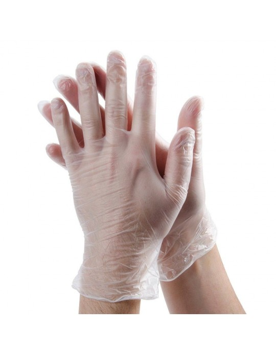 Vinyl Powdered Disposable Gloves Box/100 - CHOOSE SIZE