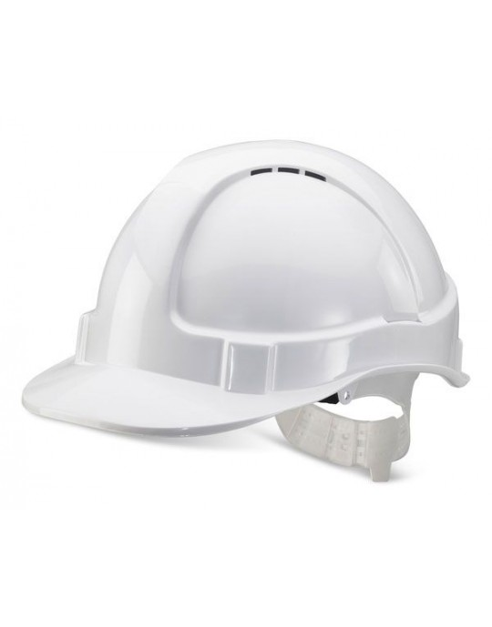 White Vented Safety Hard Hat